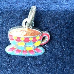Brighton colorful coffee cup charm